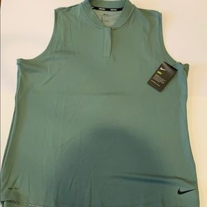 NIKE Women's Sleeveless Dry Blade Golf Polo NWT